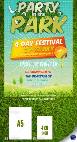 Summer Nature Party Flyer Template
