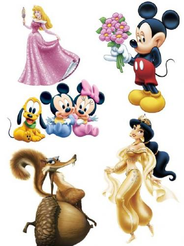 Cartoon characters (the images)