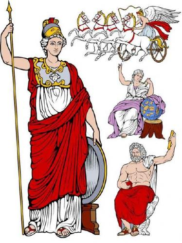 Characters mythology of ancient Greece (vector drawing)