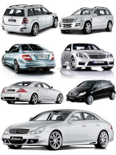 Cars brand MERCEDES - BENZ (transparent background)