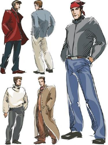 Men's fashion vector
