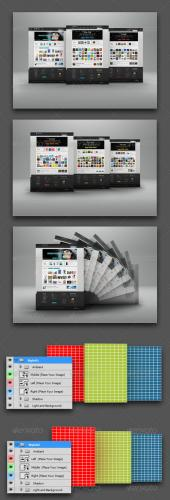 Web Page Display Mockup