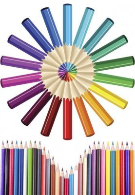 Mega collection of images of colored pencils (Graphics)