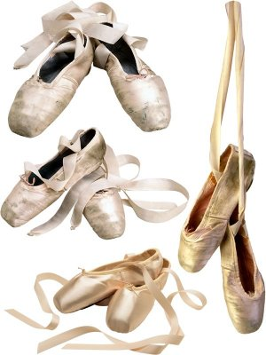 Shoes for ballet: pointe shoes