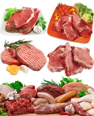 Stock Photo: Raw meat, beef, fillet, sliced (part two)