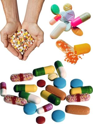 The tablets, pills, medications (the images)