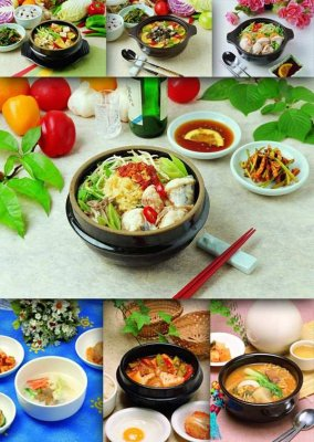 Oriental cuisine: soups, broths, slicing, sauces, salads