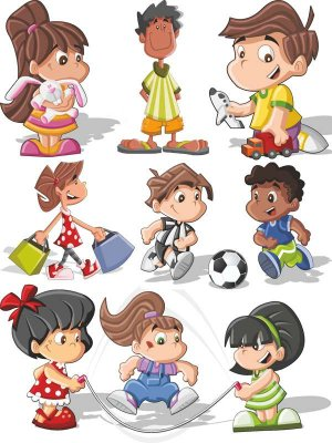 A selection of children vector (Part 6)