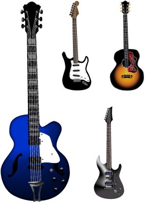 Musical Instruments: Guitar (vector)