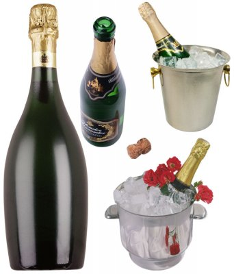 Photo stock: champagne, ice bucket with champagne