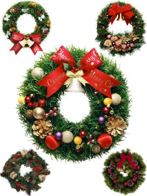 Photo stock: Christmas and New Year's Wreath (part one)