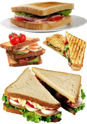 Sandwiches: large collection of images