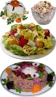 Photostock: Salad - Caesar, Olivier,  crown,  coat, vegetable, etc.
