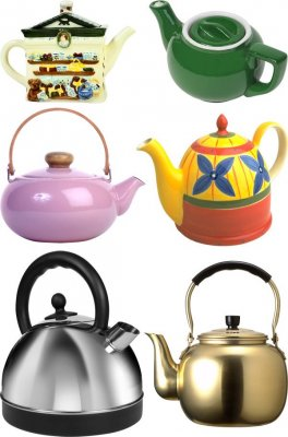 Photostock: dishes - kettle, coffee make