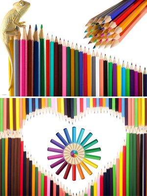Photostock: office supplies - colored pencils