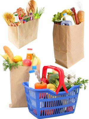Grocery bags (transparent background)