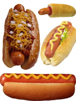 Fast Food: Hot - Dog (a compilation of stock images)