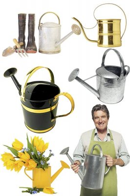 Garden tools: Watering - selection of stock images