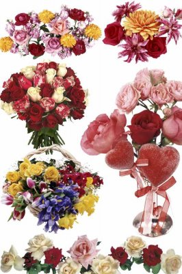 Roses - bouquets and flower arrangements (photo stock Part Two)
