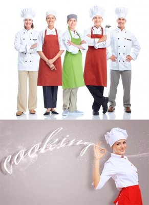 Chefs and cooks (collection of images)