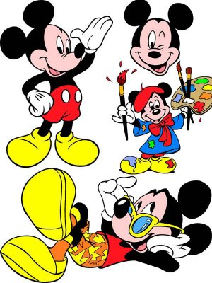 Mickey Mouse - a large collection of vector clipart
