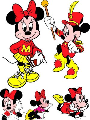 Minnie Mouse (Mickey Mouse's girlfriend) - vector stock