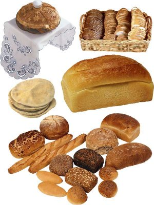 Bread, loaf, loaves, pita bread, crackers - photo stock