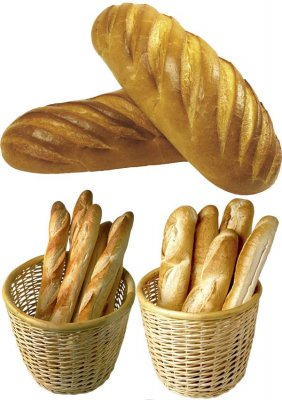 Baguette, bread, french bread - photo stock