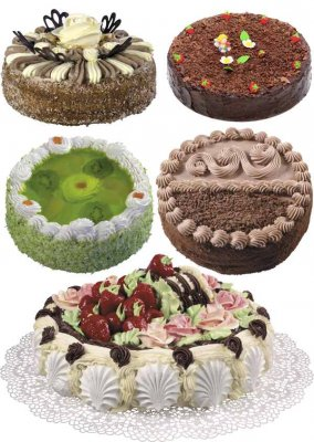 Sweet Cakes - collection stock images (part two)