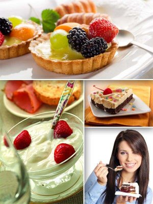A selection of images of sweet desserts