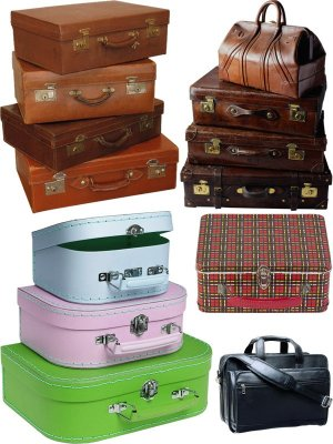 Suitcase, case, travel bag (collection of images)
