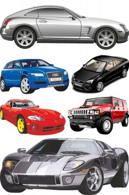 Modern cars in the vector