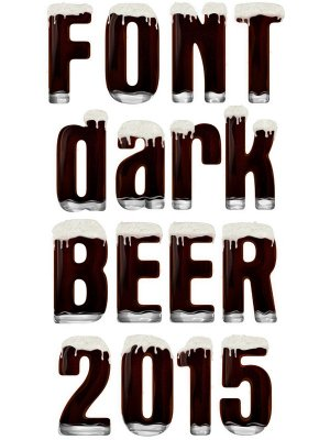 Font: dark beer (alphabet) a transparent background