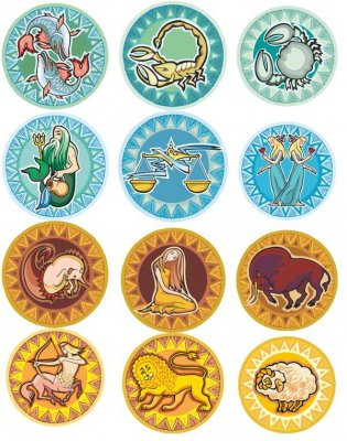 Signs of the Zodiac (selection vector)