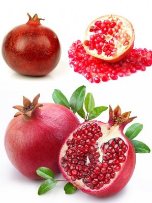 Pomegranate and its fruits (the images)