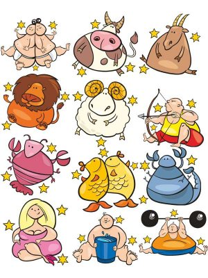 Funny signs of the zodiac (selection vector)