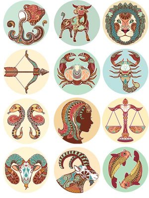 Signs of the Zodiac (selection vector) the third part