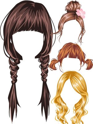 Vector: Wigs and Hair