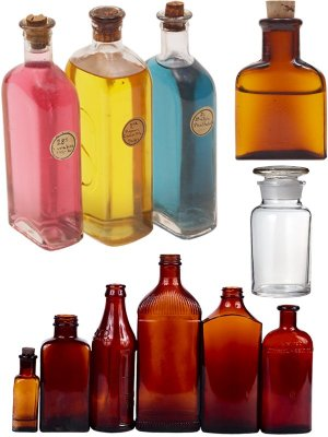 Photo stock: bottles, jars