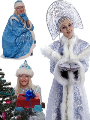Snow Maiden - a large collection of clipart