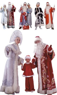 Santa Claus and Snow Maiden - New Year Graphics