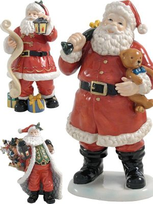 Figures of Santa Claus - raster clipart