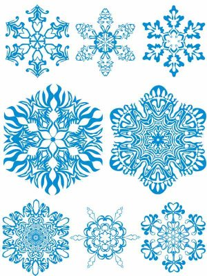 Snowflakes - vector selection