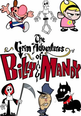 "Cartoon characters ""The Grim Adventures of Billy & Mandy"" (vector drawing)"