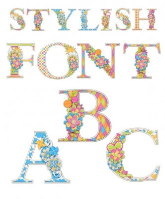 Alphabet: Stylish letters (transparent background)