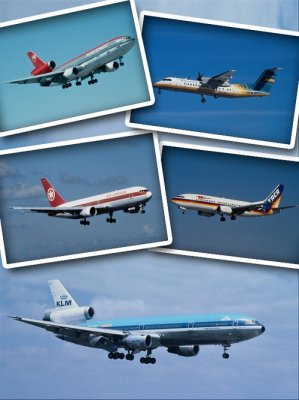 Air transport: Commercial airliners (selection Clipart)