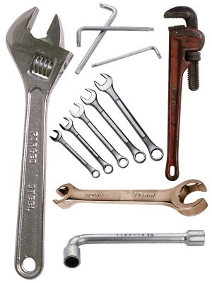 Open end wrench, key cap, adjustable wrench, pipe wrench, hexagon