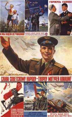 Posters of the Air Force of the Soviet Union