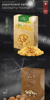 Paperboard Carton Packaging Mock-Up