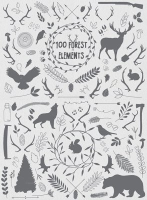 100 Forest elements